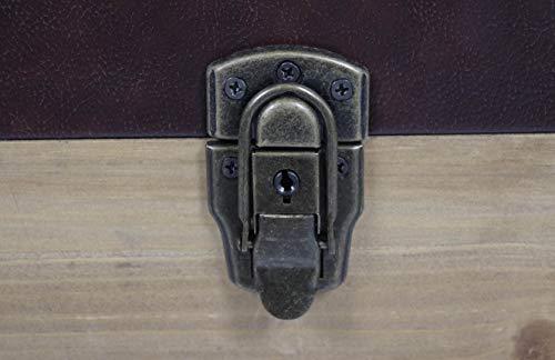 Truhe Schatztruhe Piratentruhe Panama-V - Holz - 70x35x39 cm - 9