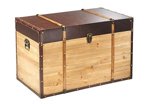 Truhe Schatztruhe Piratentruhe Panama-V - Holz - 80x45x50 cm