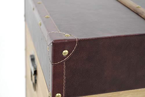 Truhe Schatztruhe Piratentruhe Panama-V - Holz - 80x45x50 cm - 8