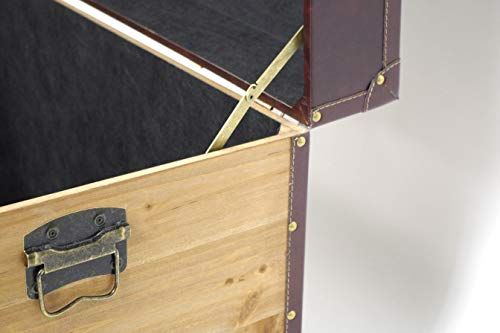 Truhe Schatztruhe Piratentruhe Panama-V - Holz - 80x45x50 cm - 3