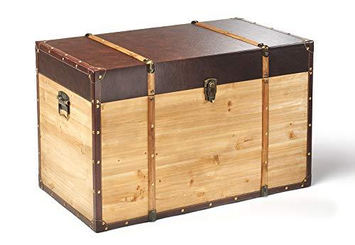 Truhe Schatztruhe Piratentruhe Panama-V - Holz - 80x45x50 cm - 4