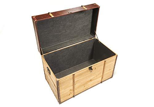 Truhe Schatztruhe Piratentruhe Panama-V - Holz - 80x45x50 cm - 6