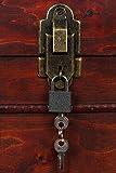Sarah B Truhe AX4017 Abschließbar MIT Schloss Holztruhe, Schatzkiste,Kiste, Piratenkiste, Kleinmöbel,Holz Größe L 50cm - 3