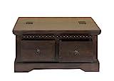 MiaMöbel Truhentisch Colombo 90x45x90 cm Kolonialstil Massivholz Akazie Walnuss - 3