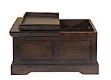 MiaMöbel Truhentisch Colombo 90x45x90 cm Kolonialstil Massivholz Akazie Walnuss - 4