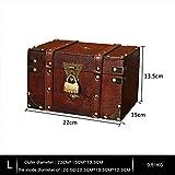 flyingx Schatztruhe Holztruhe Schatzkiste Truhe Schatztruhe Piratenkiste, Geschenk-Box Verschließbar Mit Deckel Und Schloss Mit Schlüssel, 30x20x15cm/18x11x10cm Schatzkiste Holz Sparkasse Geldtruhe - 2