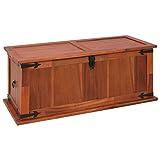 Festnight Aufbewahrungstruhe aus Akazienholz 90 x 45 x 40 cm | Aufbewahrungsbox Holztruhe Auflagenbox Kissenbox Braun