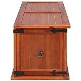 Festnight Aufbewahrungstruhe aus Akazienholz 90 x 45 x 40 cm | Aufbewahrungsbox Holztruhe Auflagenbox Kissenbox Braun - 6