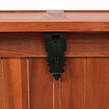 Festnight Aufbewahrungstruhe aus Akazienholz 90 x 45 x 40 cm | Aufbewahrungsbox Holztruhe Auflagenbox Kissenbox Braun - 7