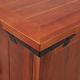 Festnight Aufbewahrungstruhe aus Akazienholz 90 x 45 x 40 cm | Aufbewahrungsbox Holztruhe Auflagenbox Kissenbox Braun - 8