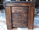 massive handgemachte Holzkiste Truhe Box Holz Aufbewahrung Antik Dekoration BT2 - 3