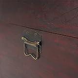 Mendler Holztruhe Holzbox Schatztruhe Valence Antikoptik 49x77x47cm ~ eckig - 2