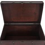 Mendler Holztruhe Holzbox Schatztruhe Valence Antikoptik 49x77x47cm ~ eckig - 3
