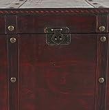 Mendler Holztruhe Holzbox Schatztruhe Valence Antikoptik 49x77x47cm ~ eckig - 4