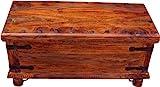 Guru-Shop Kolonialstil Truhe & Tisch R309, Braun, Akazienholz, 41x85x38 cm, Truhen, Kisten, Koffer - 2