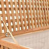 vidaXL Walnussholz Massiv Wäschetruhe mit Deckel Wäschekorb Wäschesammler Wäschebox Wäschetonne Wäschesack Bad Schlafzimmer 77,5×37,5×46,5cm Natur - 5