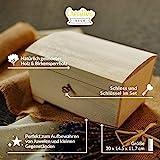 Creative Deco Große Holz-Kiste mit Deckel, Schloss und Schlüssel für Schmuck-Stücke | 20 x 14 x 12,5 cm | Abschließbare Holz-Box für kleine Gegenständen | Perfekt für Aufbewahrung und Dekoration - 4