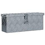 vidaXL Aluminiumkiste Silbern Alubox Aluminiumbox Transportkiste Alukoffer