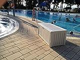 Koll Living Auflagenbox/Kissenbox 570 Liter l 100% Wasserdicht l mit Belüftung dadurch kein übler Geruch/Schimmel l Moderne Holzoptik l Deckel belastbar bis 250 KG (2 Personen) (Weiß) - 4