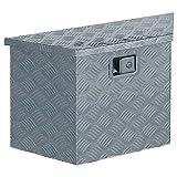 vidaXL Werkzeugbox Aluminium 70x24x42cm Trapezförmig Alubox Transportkiste