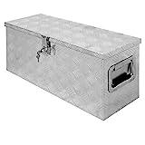 ECD Germany Alu Werkzeugkasten 73 x 24 x 32 cm - abschließbar - Werkzeugkoffer Werkzeugkiste Werkzeugbox Alukiste Kiste Alubox Transportbox Transportkiste Deichselbox Truckbox Box
