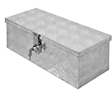 ECD Germany Alu Werkzeugkasten 57 x 22 x 19 cm - abschließbar - Werkzeugkoffer Werkzeugkiste Werkzeugbox Alukiste Kiste Alubox Transportbox Transportkiste Deichselbox Truckbox Box