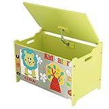 Bieco Spielzeugtruhe und Sitzbank   Aufbewahrungsbox Kinder   Holzkiste mit Deckel   Sitzbank mit Stauraum   Spielzeugkiste mit Deckel   Truhe Holz   Aufbewahrung Kinderzimmer   Spielzeugkiste Holz - 2
