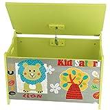 Bieco Spielzeugtruhe und Sitzbank   Aufbewahrungsbox Kinder   Holzkiste mit Deckel   Sitzbank mit Stauraum   Spielzeugkiste mit Deckel   Truhe Holz   Aufbewahrung Kinderzimmer   Spielzeugkiste Holz - 3