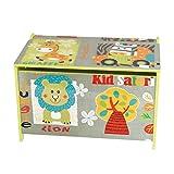 Bieco Spielzeugtruhe und Sitzbank   Aufbewahrungsbox Kinder   Holzkiste mit Deckel   Sitzbank mit Stauraum   Spielzeugkiste mit Deckel   Truhe Holz   Aufbewahrung Kinderzimmer   Spielzeugkiste Holz - 4