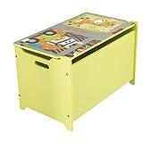 Bieco Spielzeugtruhe und Sitzbank   Aufbewahrungsbox Kinder   Holzkiste mit Deckel   Sitzbank mit Stauraum   Spielzeugkiste mit Deckel   Truhe Holz   Aufbewahrung Kinderzimmer   Spielzeugkiste Holz - 5