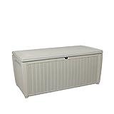 Auflagenbox / Kissenbox Koll Living 511 Liter l 100% Wasserdicht l mit Belüftung dadurch kein übler Geruch / Schimmel l Moderne Rattanoptik l l Deckel belastbar bis 200 KG ( 2 Personen ) - Poolbox - 2