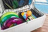 Auflagenbox / Kissenbox Koll Living 511 Liter l 100% Wasserdicht l mit Belüftung dadurch kein übler Geruch / Schimmel l Moderne Rattanoptik l l Deckel belastbar bis 200 KG ( 2 Personen ) - Poolbox - 5