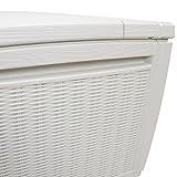 Auflagenbox / Kissenbox Koll Living 511 Liter l 100% Wasserdicht l mit Belüftung dadurch kein übler Geruch / Schimmel l Moderne Rattanoptik l l Deckel belastbar bis 200 KG ( 2 Personen ) - Poolbox - 7