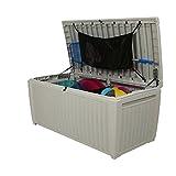 Auflagenbox / Kissenbox Koll Living 511 Liter l 100% Wasserdicht l mit Belüftung dadurch kein übler Geruch / Schimmel l Moderne Rattanoptik l l Deckel belastbar bis 200 KG ( 2 Personen ) - Poolbox - 9