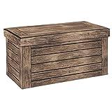 WOLTU® Sitzhocker mit Stauraum Sitzbank faltbar Truhen Aufbewahrungsbox, Deckel abnehmbar, Gepolsterte Sitzfläche aus Stoffbezug, belastbar bis 150KG, 76x37,5x38cm(LxBxH), SH23dc