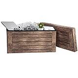 WOLTU® Sitzhocker mit Stauraum Sitzbank faltbar Truhen Aufbewahrungsbox, Deckel abnehmbar, Gepolsterte Sitzfläche aus Stoffbezug, belastbar bis 150KG, 76x37,5x38cm(LxBxH), SH23dc - 5