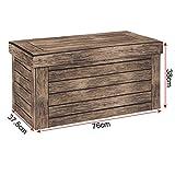 WOLTU® Sitzhocker mit Stauraum Sitzbank faltbar Truhen Aufbewahrungsbox, Deckel abnehmbar, Gepolsterte Sitzfläche aus Stoffbezug, belastbar bis 150KG, 76x37,5x38cm(LxBxH), SH23dc - 7