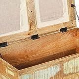vidaXL Sitzbank mit Stauraum Recyclingholz Massiv Sitztruhe Truhe Hocker Bank - 5