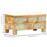 vidaXL Sitzbank mit Stauraum Recyclingholz Massiv Sitztruhe Truhe Hocker Bank - 7