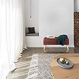 Relaxdays Sitzbank mit Stauraum, 40 L, gepolstert, Holzbeine, Truhenbank Kunstleder, HxBxT: 40 x 80 x 39,5 cm, schwarz, Größe - 3