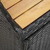 vidaXL Gartenbank mit Stauraum Gartentruhe Sitzbank Kissentruhe Kissenbox Truhenbank Auflagenbox Gartenmöbel Bank 120cm Poly Rattan Grau - 3