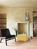 Sitzbank mit Stauraum Aufbewahrungsbox aus Leinen Sitzhocker und Deckel mit Holzfüßen Truhenbank Stoffbezug Gepolsterte Betthocker Modern Design für Wohnzimmer Büro Schlafzimmer Flur Gelb - 5