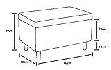 Sitzbank mit Stauraum Aufbewahrungsbox aus Leinen Sitzhocker und Deckel mit Holzfüßen Truhenbank Stoffbezug Gepolsterte Betthocker Modern Design für Wohnzimmer Büro Schlafzimmer Flur Gelb - 9