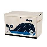 3 Sprouts - Spielzeugtruhe für Kinder - Ablagetruhe für Jungen- und Mädchenzimmer, Wal