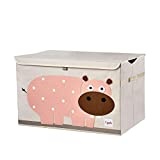 3 Sprouts Kinderspielzeugkiste - Aufbewahrungskoffer für Jungen und Mädchen, Hippo