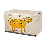 3 Sprouts - Spielzeugtruhe für Kinder - Ablagetruhe für Jungen- und Mädchenzimmer, Leopard