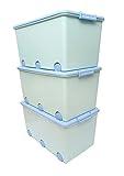 LAPSI® Spielzeugkiste, Aufbewahrungsbox mit 6 Rollen mit Deckel auf Rädern Grün Hase - 7