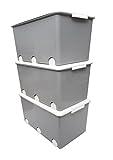 LAPSI® Spielzeugkiste, Aufbewahrungsbox mit 6 Rollen mit Deckel auf Rädern Grau Eule - 7