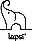 LAPSI® Spielzeugkiste, Aufbewahrungsbox mit 6 Rollen mit Deckel auf Rädern Grau Eule - 8