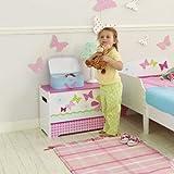 Schmetterlinge und Blumen - Spielzeugkiste für Kinder – Aufbewahrungsbox für das Kinderzimmer - 3